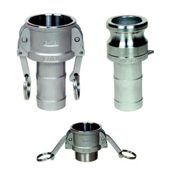 Camlock-kontakter - Rostfritt stål