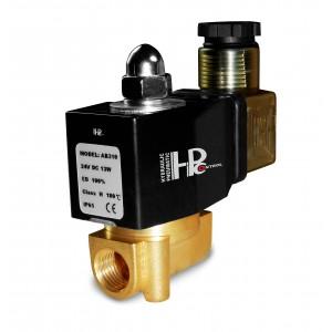 Magnetventil 2N08 1/4 230V eller 24V, 12V Viton - motståndskraftig mot kemikalier
