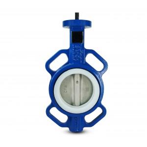 Butterflyventil, gaspump DN80 - PTFE, rostfritt stål