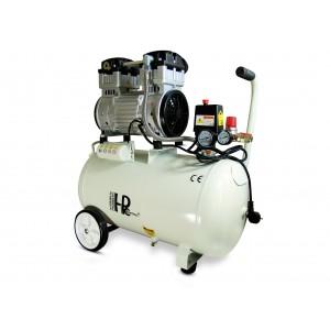 Tyst oljevänlig dentalkompressor 1100W 50l