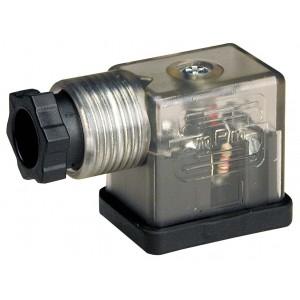 Anslut till magnetventilen DIN 43650B med LED - liten
