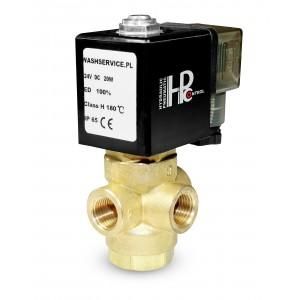 3-vägs magnetventil 3V 3x1 / 4 tum 230V 24V 12V