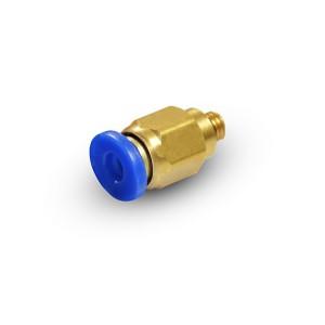 Pluggnippel rak slang 6 mm tråd M5 PC06-M05