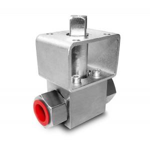 Högtryckskuleventil 1/4 tum SS304 HB22 monteringsplatta ISO5211