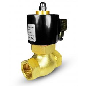 Magnetventil för ånga och hög temp. 2L20 3/4 tum 180 ° C