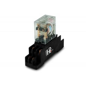 Relä 10A 2x NO / NC med en bas för montering på en DIN-skena