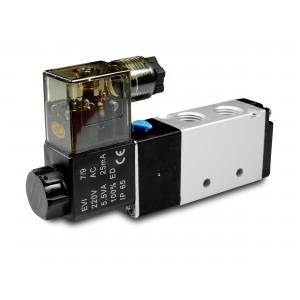 Magnetventil 5/2 4V410 1/2 tum för pneumatiska cylindrar 230V eller 12V, 24V