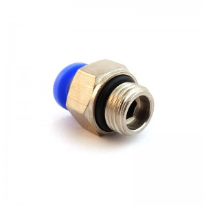 Pluggnippel rak slang 6mm tråd 3/8 tum PC06-G03