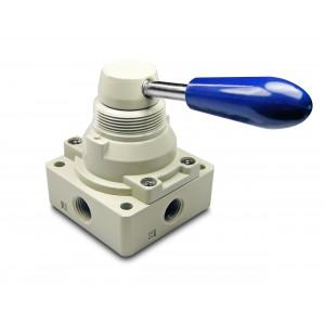 Manuell ventil 4/3 4HV230-08 1/4 tums manöverdon