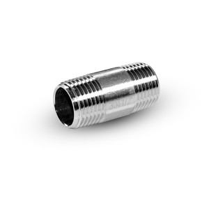 Rörnippel rostfritt stål 1/2 tum 42 mm