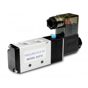 Magnetventil till pneumatiska cylindrar 4V210 5/2 1/4 230V 12V 24V