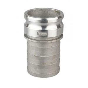 Camlock-kontakt - typ E 1 tum DN25 aluminium
