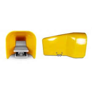 Fotventil, luftpedal 5/2 1/4 tum för cylinder 4F210G - monostabil med lock