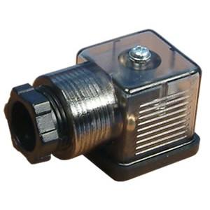 Anslut solenoidventilen 18mm DIN 43650 med LED