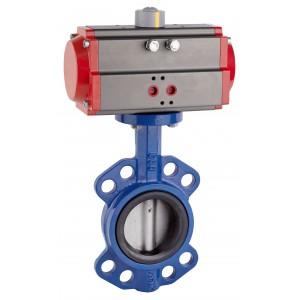 Fjärilventil, gasreglage DN80 med pneumatiskt ställdon AT75