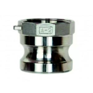 Camlock-kontakt - typ A 1 tum DN25 SS316