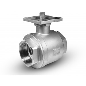 Rostfritt stål kulventil 2 1/2 tum DN65 PN40 monteringsplatta ISO5211