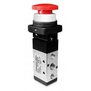 Manuell ventil 5/2 MV522EB 1/4 tums manöverdon