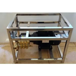 Ställ pump och motor på ram för att tvätta med tillbehör 15 l / min 130bar ekvivalent CAT350