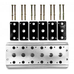 Samlarplatta för att ansluta 6 ventiler 1/4 serie 4V2 4A gruppventilanslutning 5/2 5/3