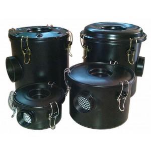 Luftfilter med hölje för virvelluftspump 1 1/4 tum