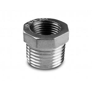 Reduktion rostfritt stål 1 1/2 - 1 1/4 tum