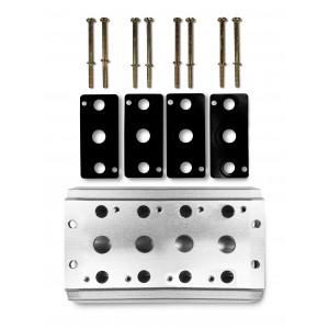 Samlarplatta för att ansluta 4 ventiler 1/2 serie 4V4 gruppventil 5/2 5/3