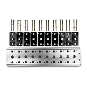 Samlingsplatta för att ansluta 10 ventiler 1/4 serie 4V2 4A gruppventilanslutning 5/2 5/3