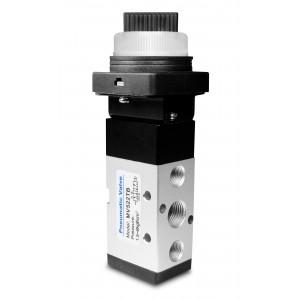 Manuell ventil 5/2 MV522TB 1/4 tums manöverdon