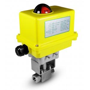 Kylventil med högt tryck 1/4 tum SS304 HB22 med elektrisk manöverdon A250
