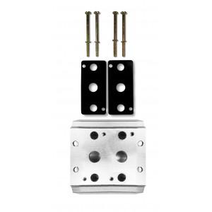 Samlarplatta för anslutning av 2 ventiler 1/4 serie 4V2 4A gruppventil 5/2 5/3