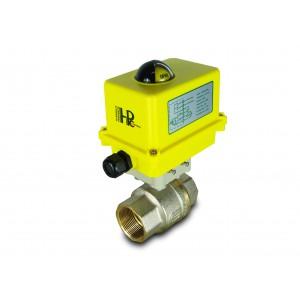 Kulventil 1 1/2 tum DN40 med elektriskt ställdon A250