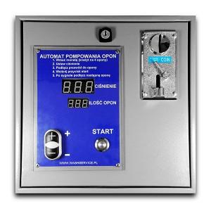 Elektroniska automatiska däckinflationskortmynt för väggmontering