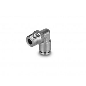 Plugnippel vinklad rostfritt stål slang 8mm tråd 1/4 tum PLSW08-G02