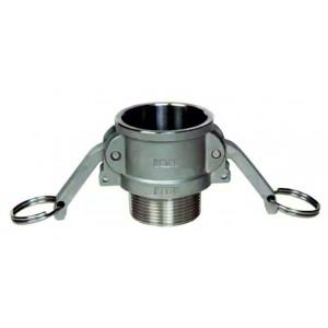 Camlock-kontakt - typ B 1/2 tum DN15 SS316